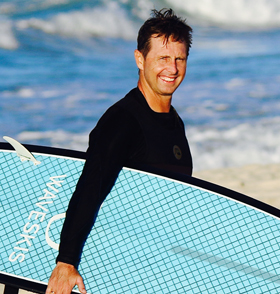 Nickname: Master Blaster When started: Started waveski surfing at the age of 11 Home Break: Tallebudgerah, Gold Coast Favourite type of wave: Big barrels Favourite Wave: Hideaways Mentawais, North point WA Best surf ever: Hideaways Mentawais Inspiration/favorite surfers: Mike Fanning, Joel Parkinson Board of Choice: RD custom 7'4'' Achievements: 11 x world Champion, 1x World Waveski Tour, 22 Australian. Goal: To win another Open world title and design the most sort after waveski in the world  Something people don't know about you: Rees the 4th and was a young Australian of the year 1989 Favorites Food: Trish's cooking and seafood